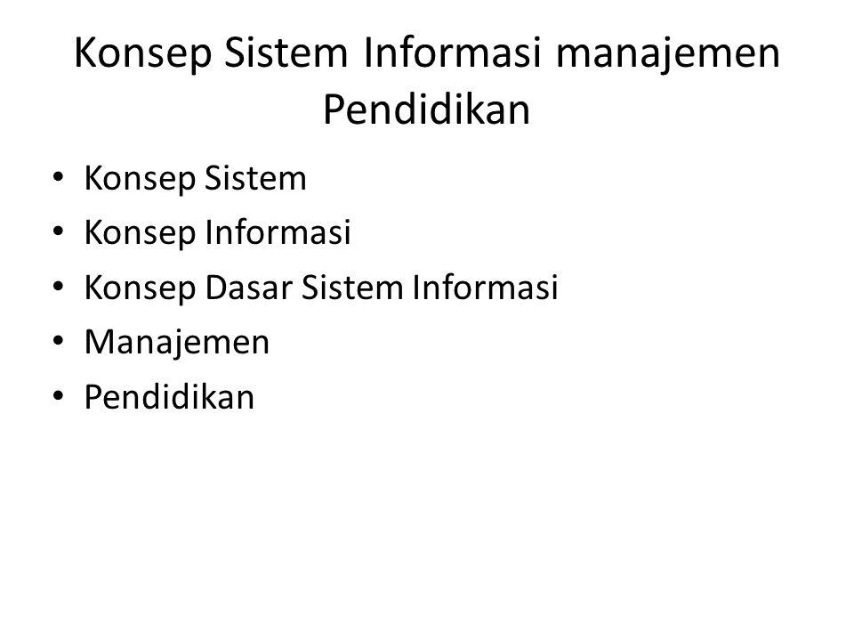 Konsep Sistem Informasi manajemen Pendidikan