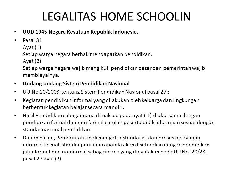 LEGALITAS HOME SCHOOLIN