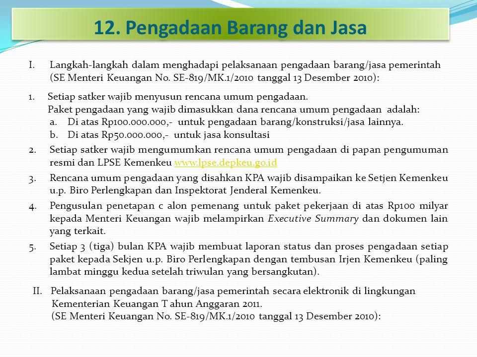 12. Pengadaan Barang dan Jasa