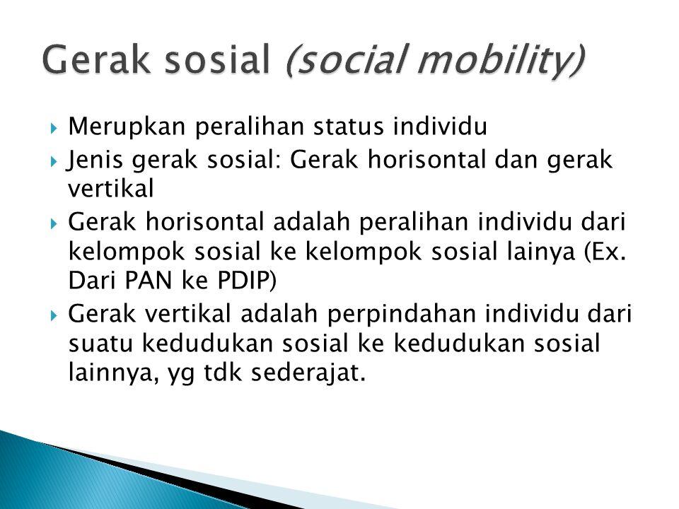 Gerak sosial (social mobility)