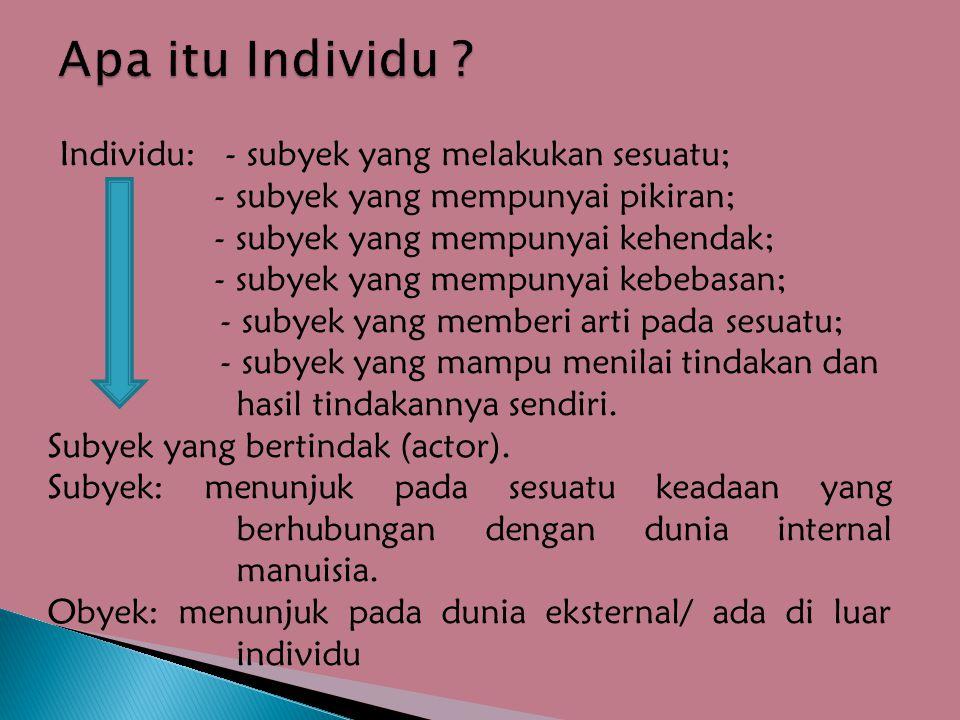 Apa itu Individu