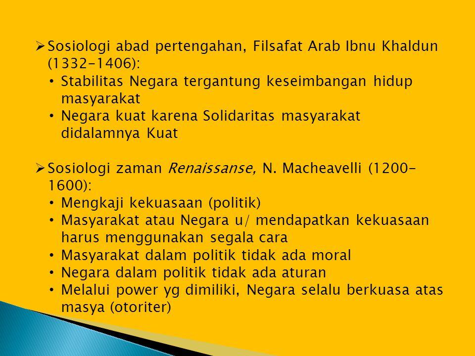 Sosiologi abad pertengahan, Filsafat Arab Ibnu Khaldun (1332-1406):
