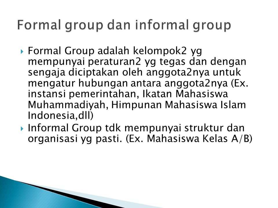 Formal group dan informal group