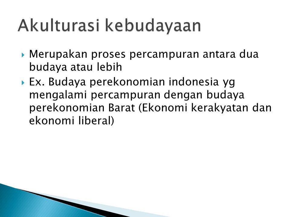 Akulturasi kebudayaan