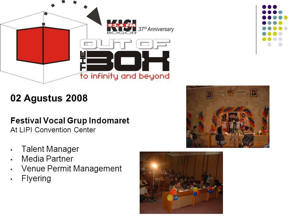 Tahun 2008 02 Agustus 2008 Festival Vocal Grup Indomaret