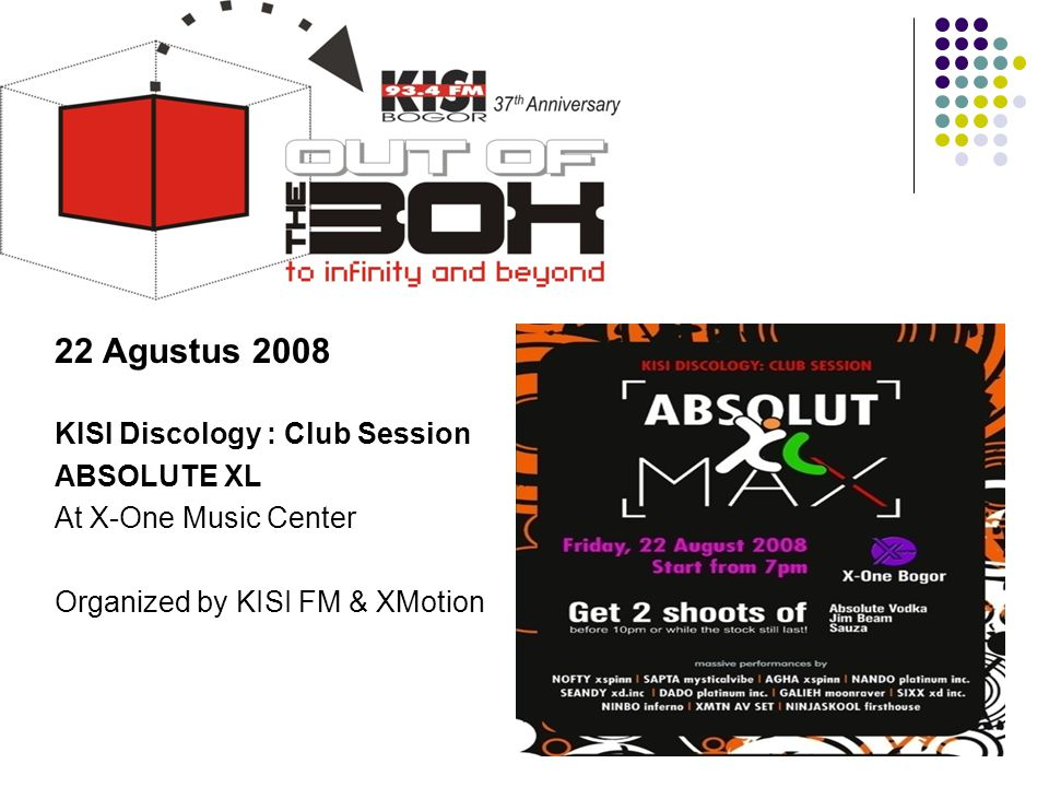 22 Agustus 2008 KISI Discology : Club Session ABSOLUTE XL