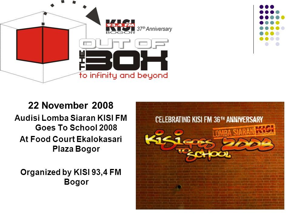 22 November 2008 Audisi Lomba Siaran KISI FM Goes To School 2008