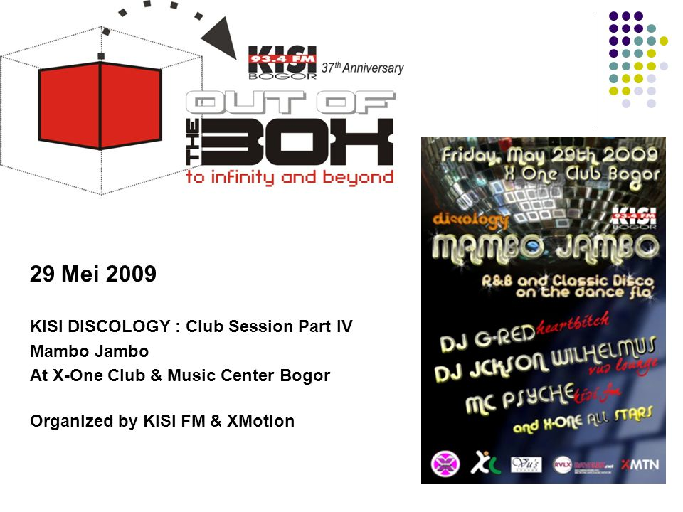 Tahun 2009 29 Mei 2009 KISI DISCOLOGY : Club Session Part IV