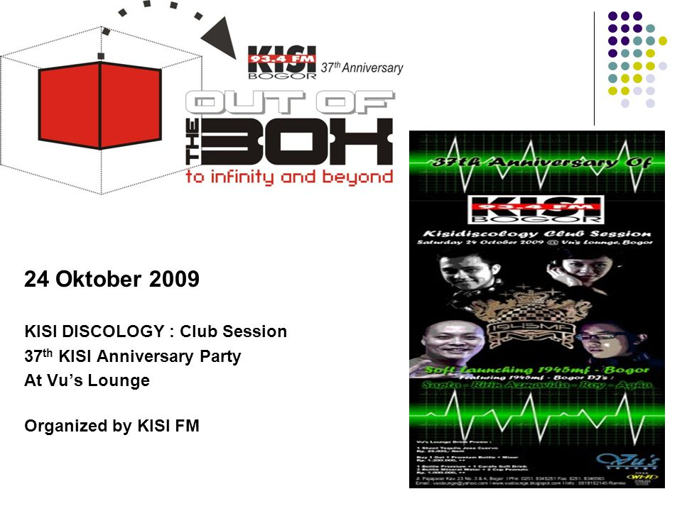 24 Oktober 2009 KISI DISCOLOGY : Club Session