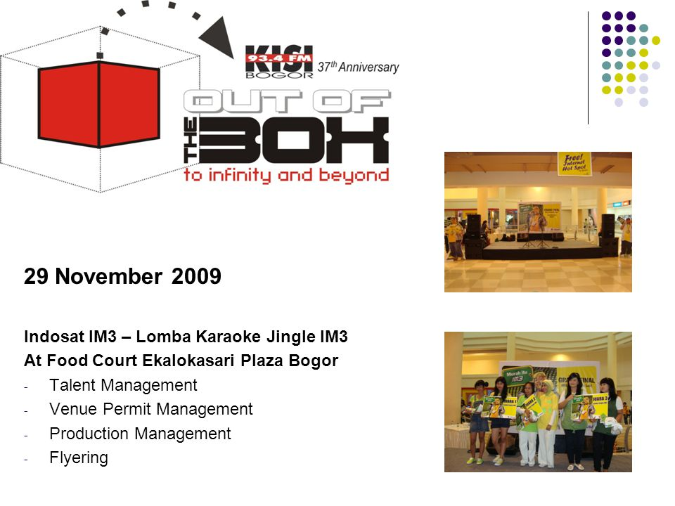 29 November 2009 Indosat IM3 – Lomba Karaoke Jingle IM3