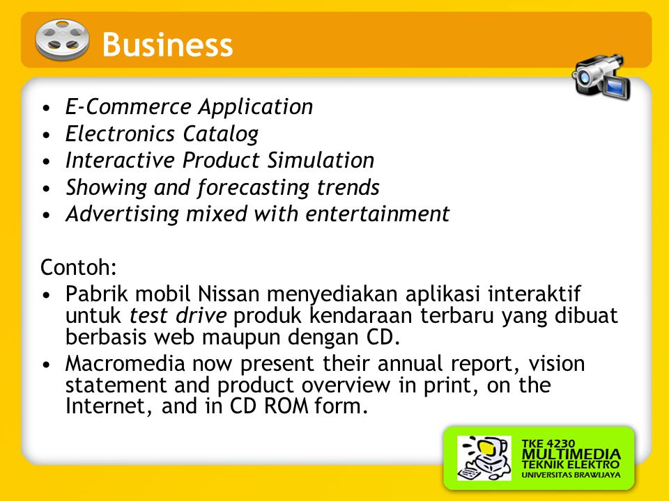 Business E-Commerce Application Electronics Catalog