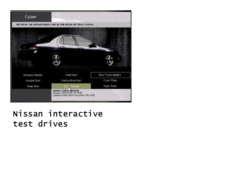 Nissan interactive test drives