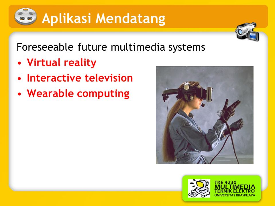 Aplikasi Mendatang Foreseeable future multimedia systems