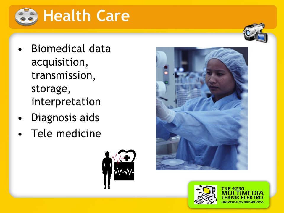 Health Care Biomedical data acquisition, transmission, storage, interpretation.