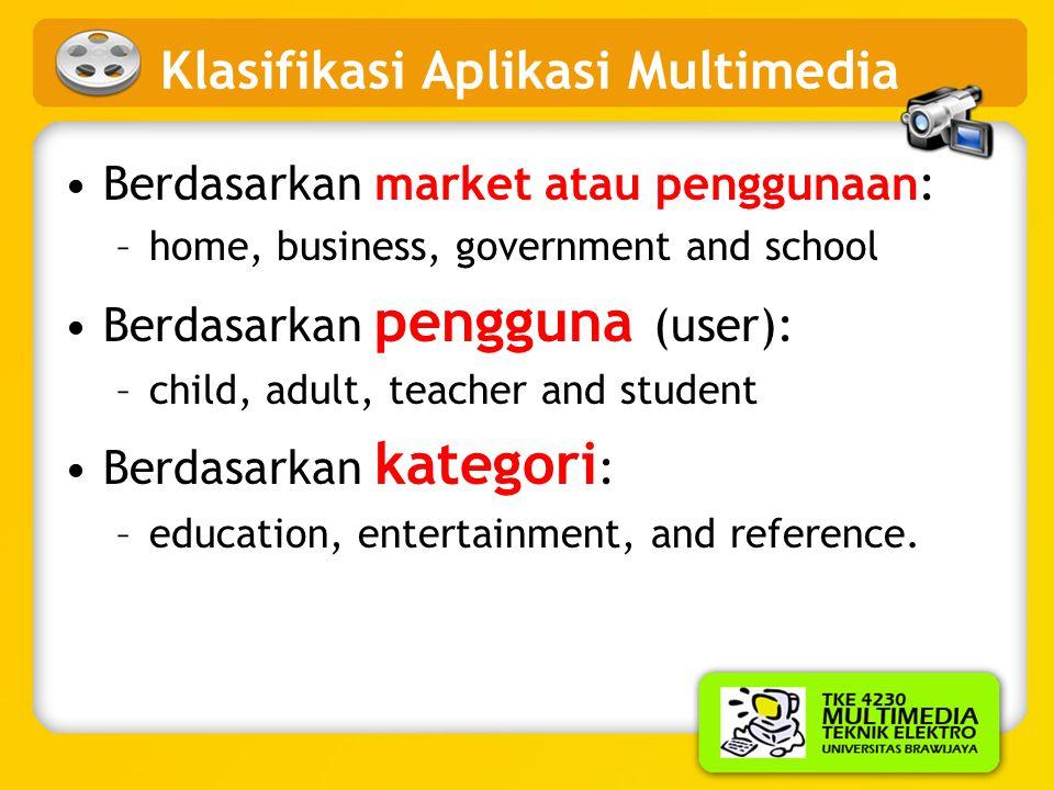 Klasifikasi Aplikasi Multimedia