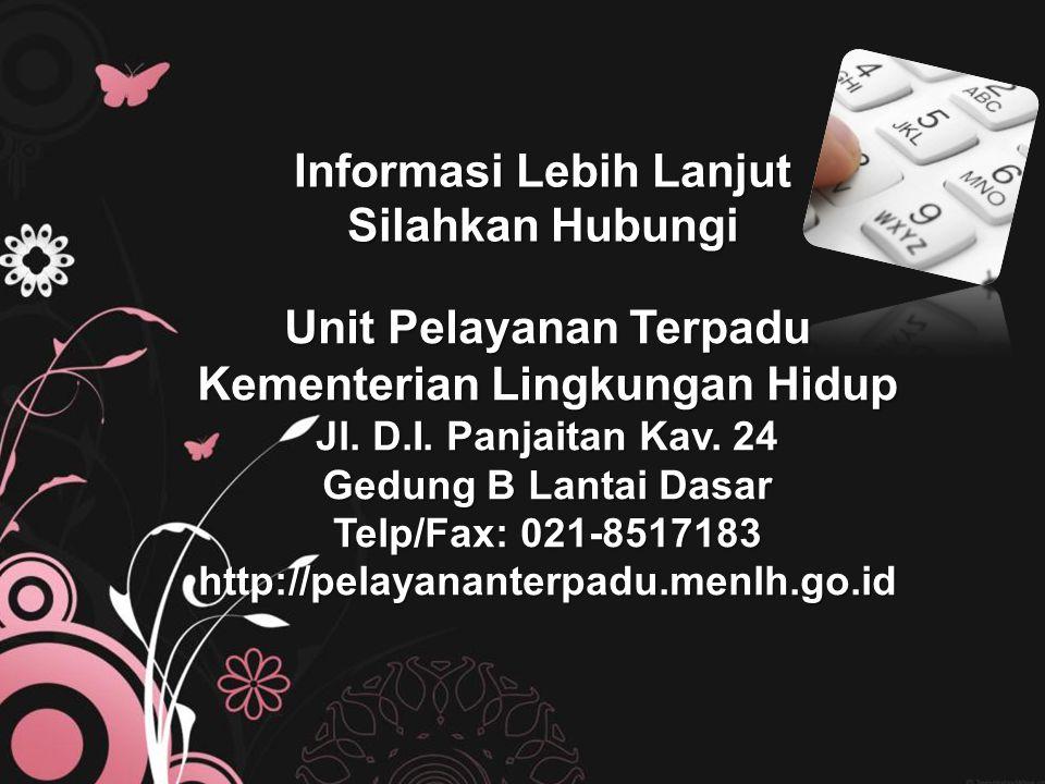 Informasi Lebih Lanjut Silahkan Hubungi