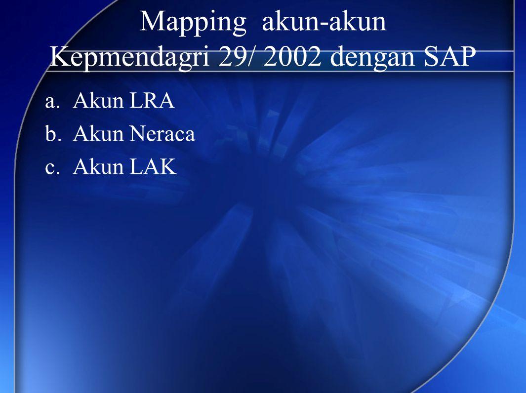 Mapping akun-akun Kepmendagri 29/ 2002 dengan SAP