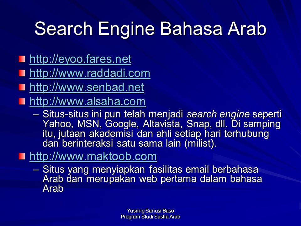 Search Engine Bahasa Arab