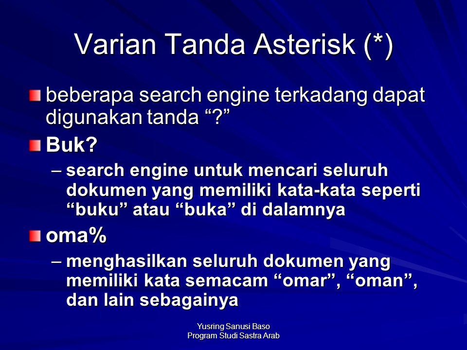 Varian Tanda Asterisk (*)