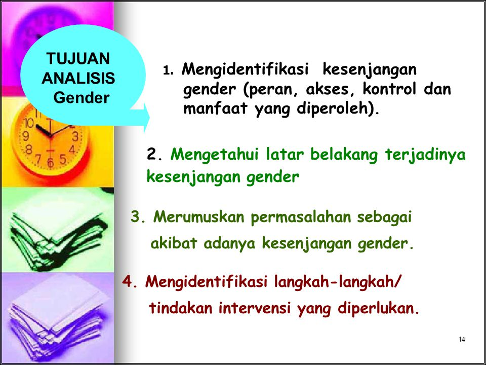 TUJUAN ANALISIS Gender