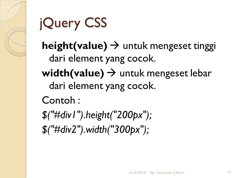 jQuery CSS