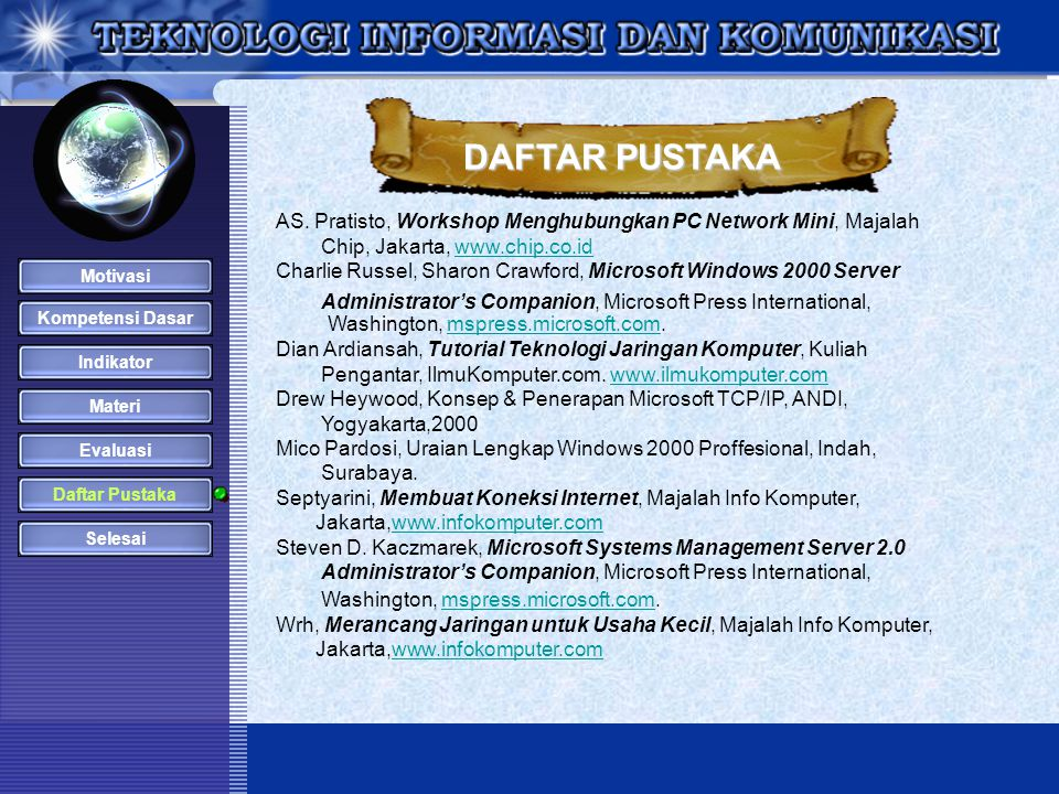 DAFTAR PUSTAKA Washington, mspress.microsoft.com.