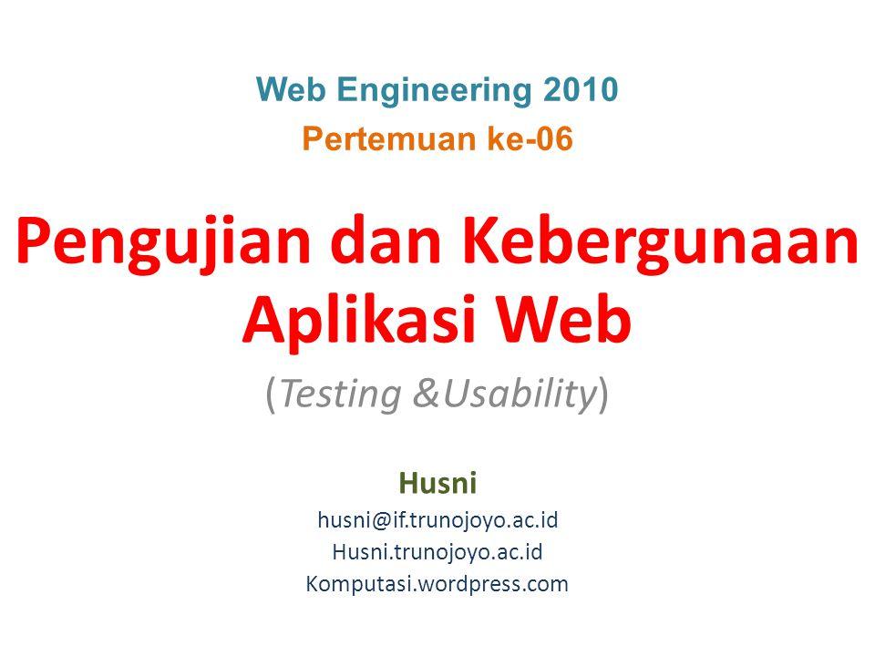 Pengujian dan Kebergunaan Aplikasi Web