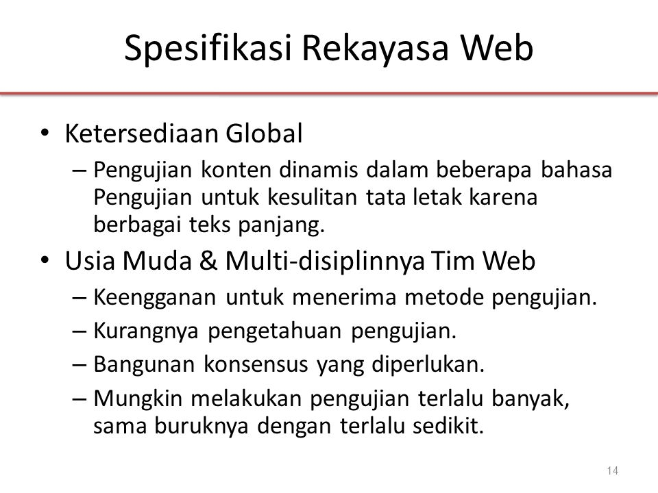 Spesifikasi Rekayasa Web