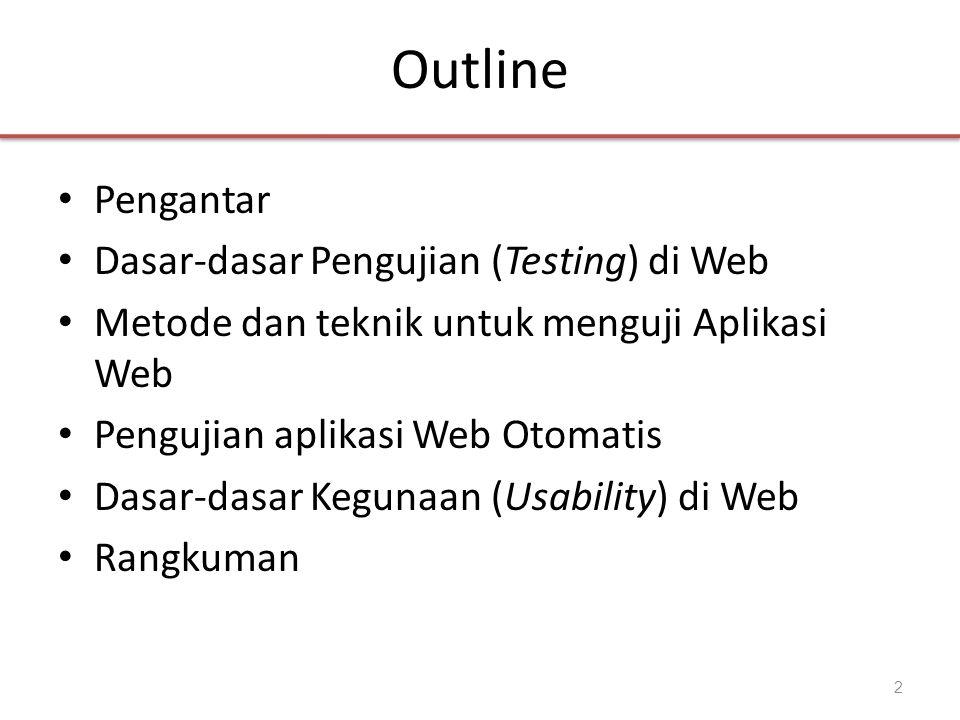 Outline Pengantar Dasar-dasar Pengujian (Testing) di Web