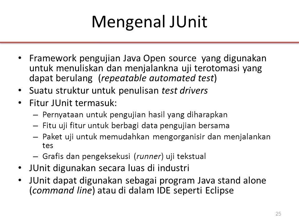 Mengenal JUnit