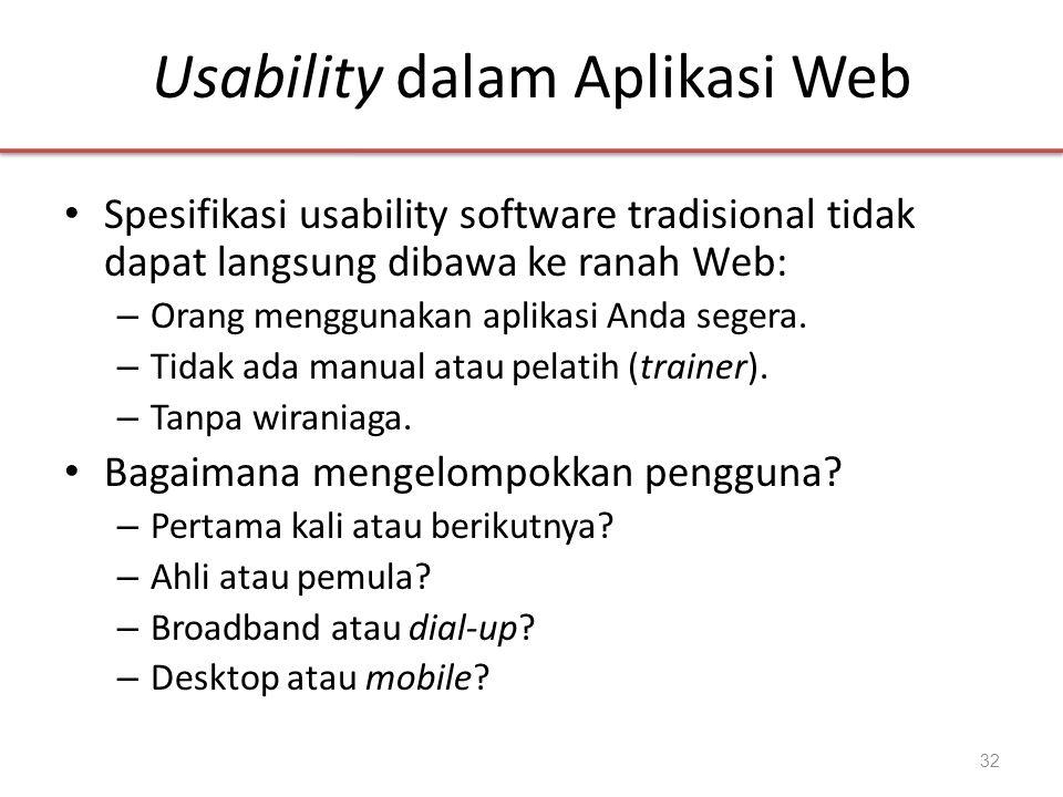 Usability dalam Aplikasi Web
