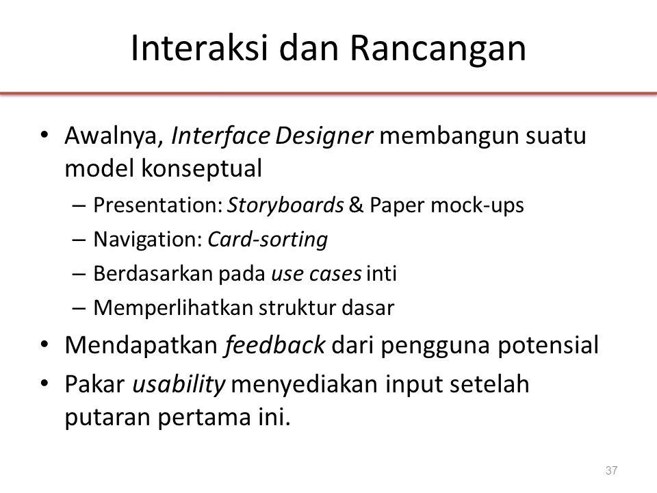 Interaksi dan Rancangan