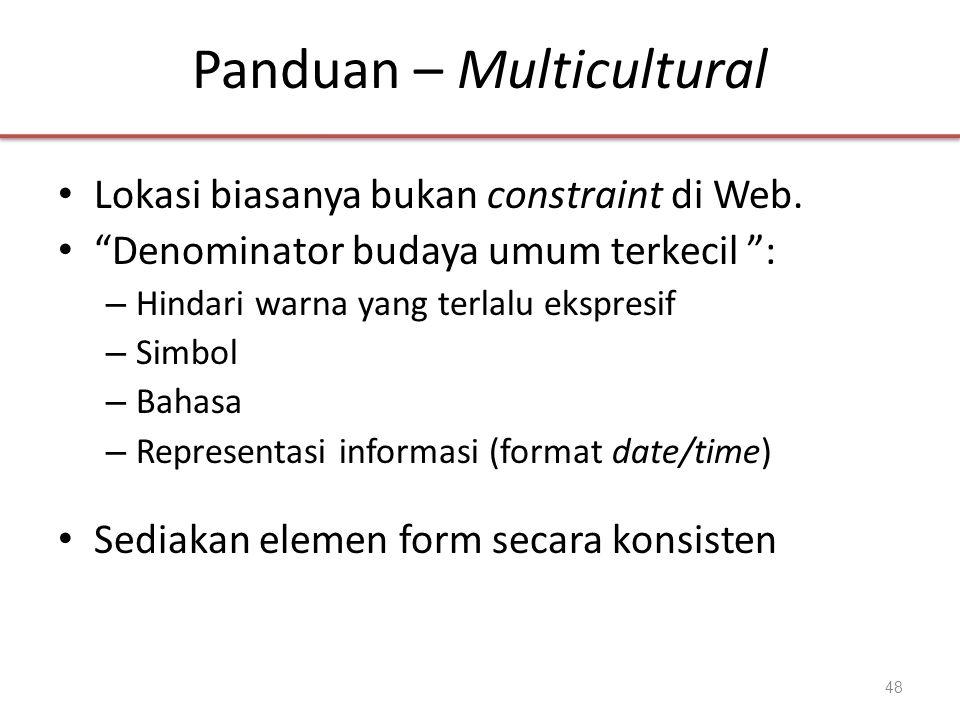 Panduan – Multicultural