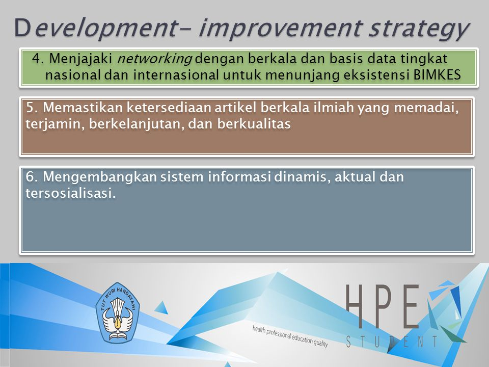 Development- improvement strategy