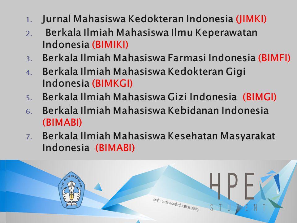 Jurnal Mahasiswa Kedokteran Indonesia (JIMKI)