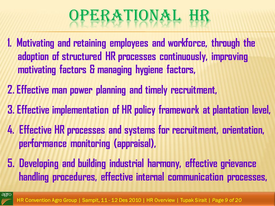 Operational HR