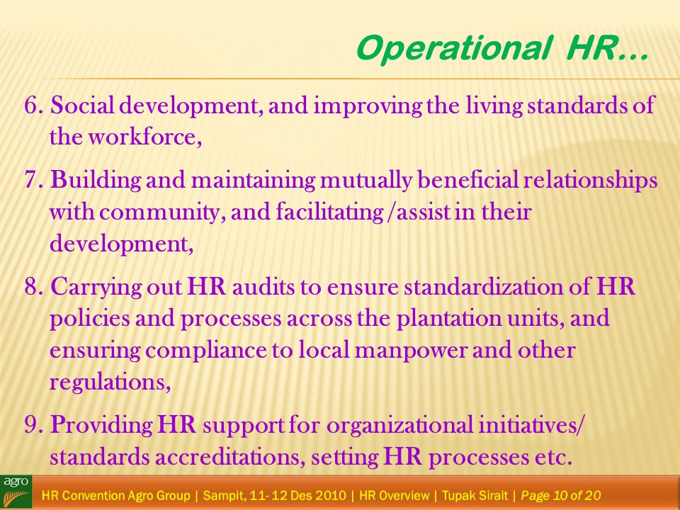 Operational HR…