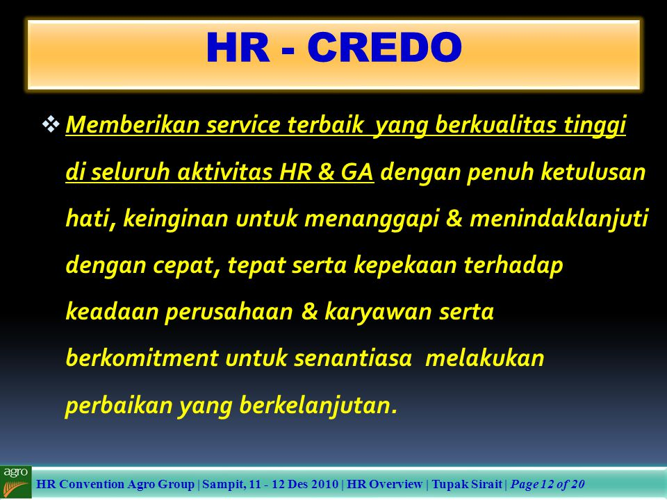 HR - CREDO