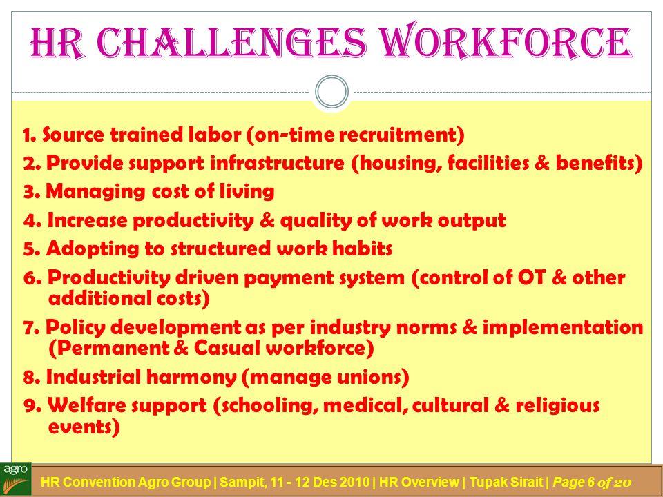 HR Challenges Workforce