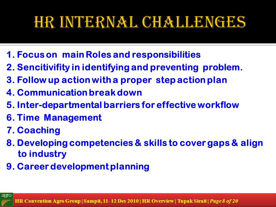 HR internal Challenges