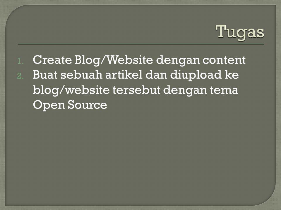 Tugas Create Blog/Website dengan content