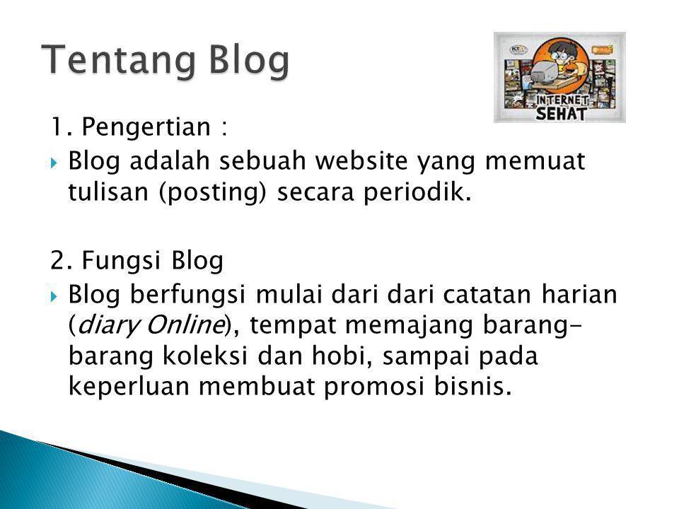 Tentang Blog 1. Pengertian :