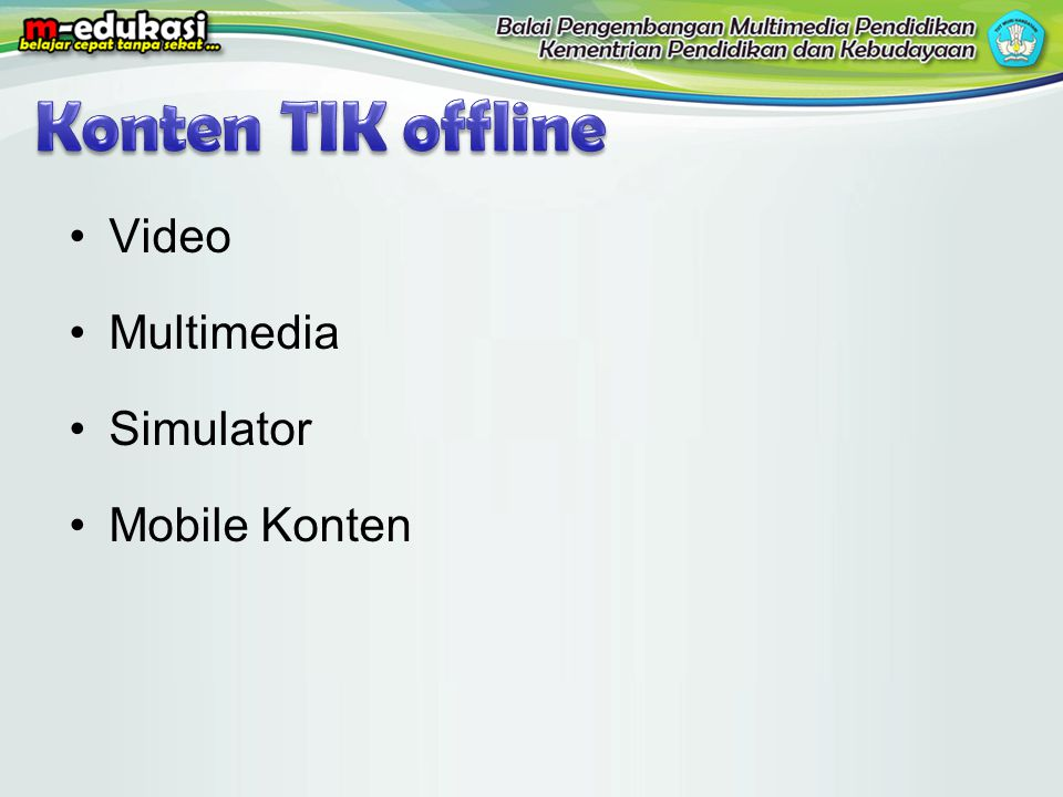 Konten TIK offline Video Multimedia Simulator Mobile Konten