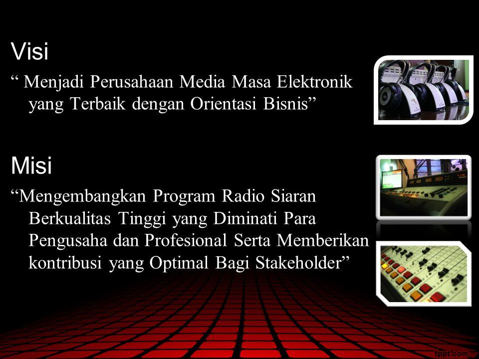 Visi Menjadi Perusahaan Media Masa Elektronik yang Terbaik dengan Orientasi Bisnis Misi.