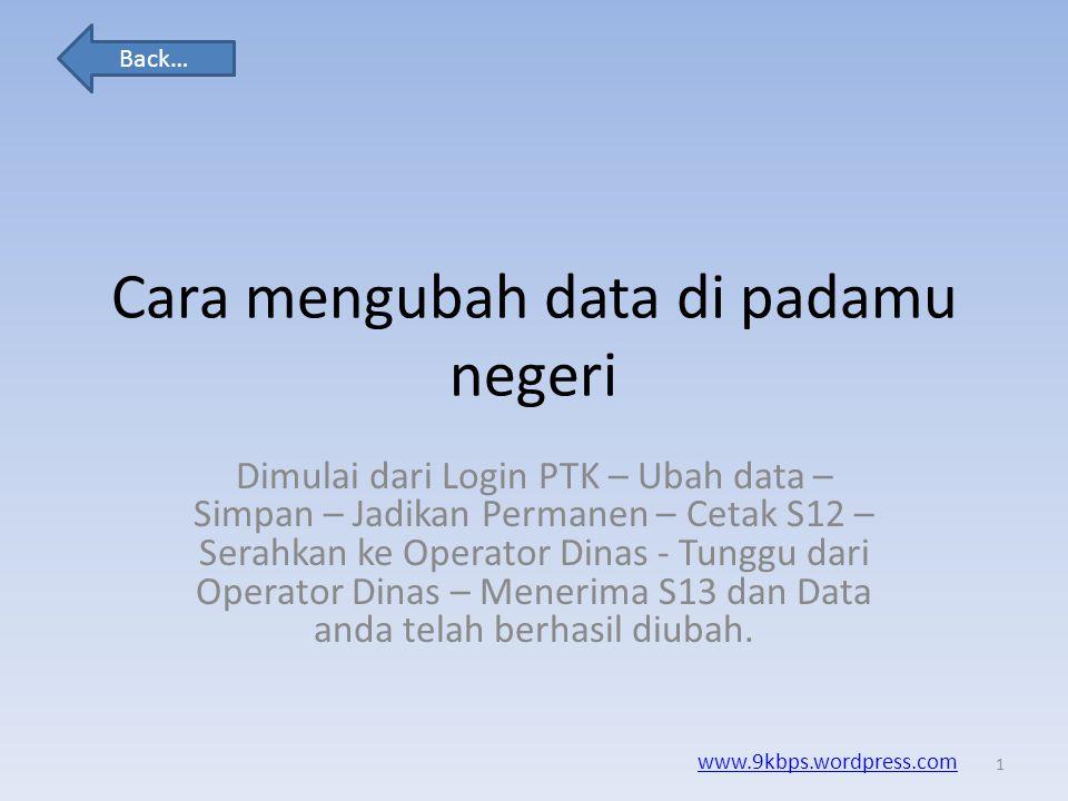 Cara mengubah data di padamu negeri