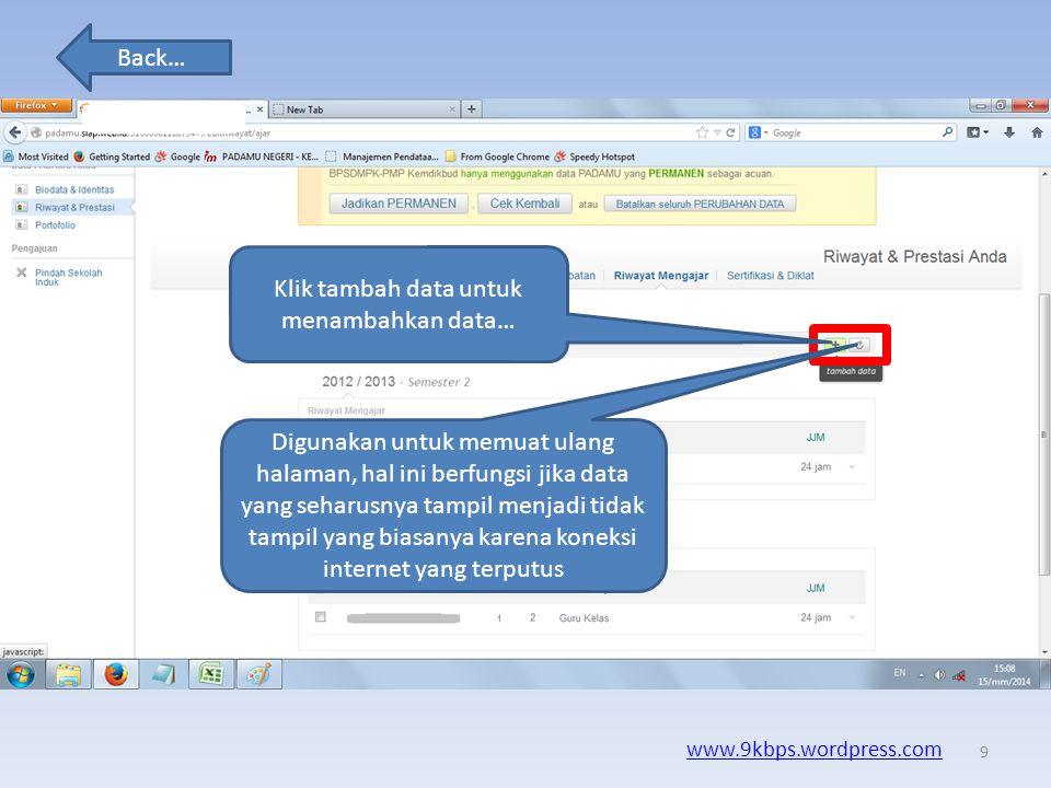 Klik tambah data untuk menambahkan data…