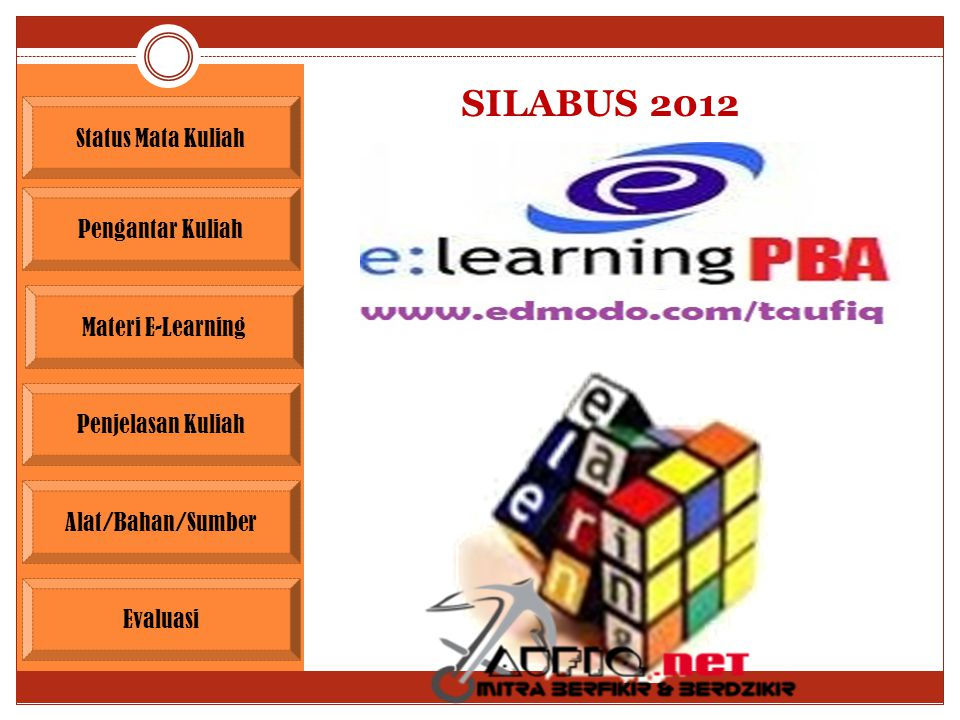 SILABUS 2012 Status Mata Kuliah Pengantar Kuliah Materi E-Learning