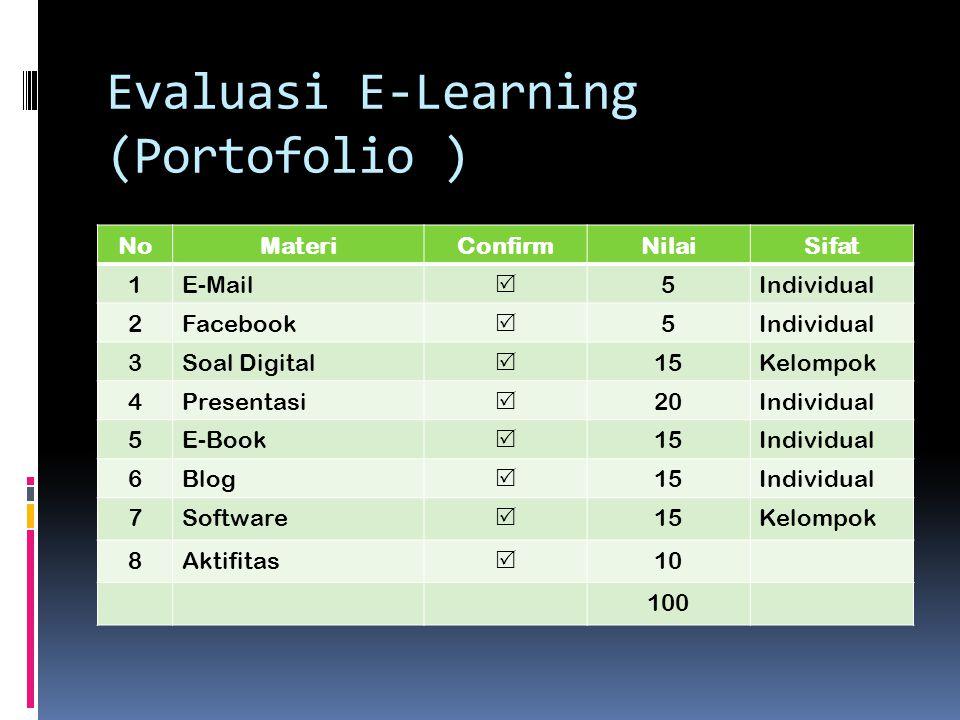 Evaluasi E-Learning (Portofolio )