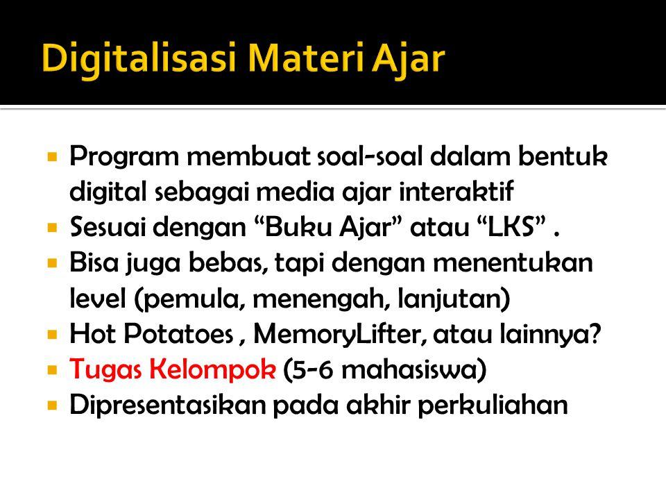 Digitalisasi Materi Ajar