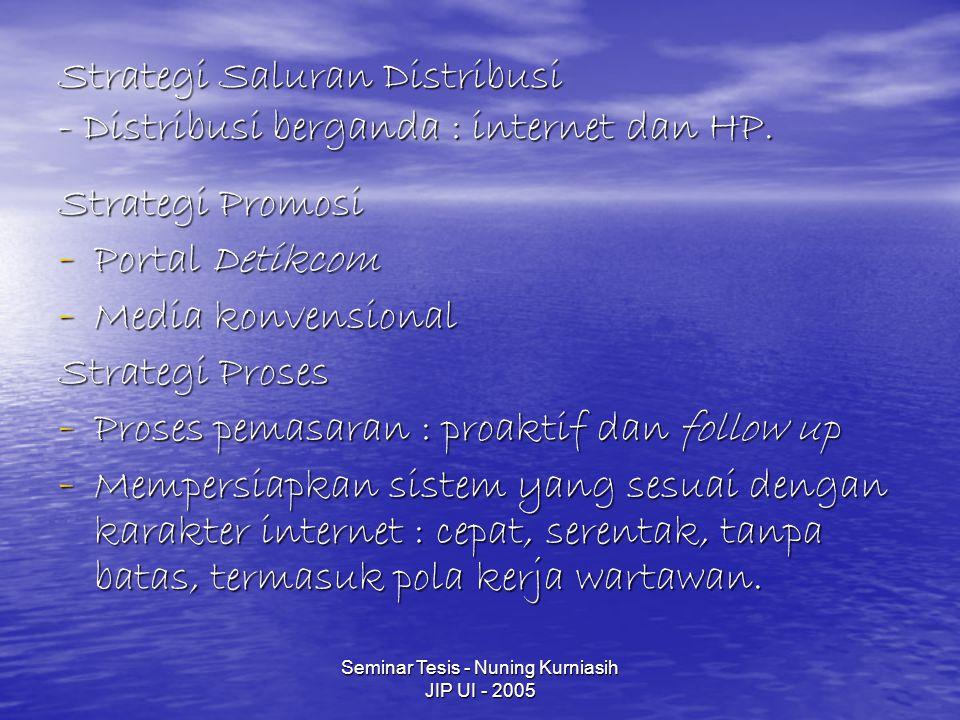Strategi Saluran Distribusi - Distribusi berganda : internet dan HP.